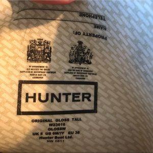 Hunter Shoes - Hunter Classic Tall Grey Gloss Boots
